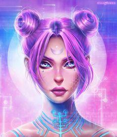 Imagem de cyberpunk, pink, and girl Arte Digital Fantasy, Fantasy Kunst, Digital Art Girl, Fantasy Art, Art Manga, Anime Art Girl, Cartoon Kunst, Cartoon Art, Pretty Art