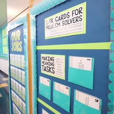 Close up look at task card pockets