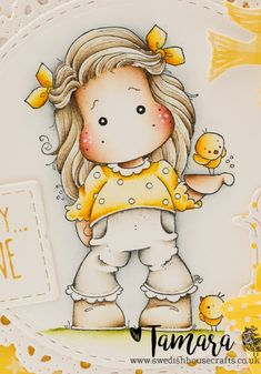 Swedish House Crafts: You are my Sunshine Magnolia Colors, Cute Paintings, Magnolia Stamps, Tatty Teddy, Marker Art, Artist Trading Cards, Digi Stamps, Jar Crafts, Vintage Cards
