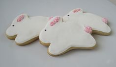 White Easter Bunny Sugar Cookies