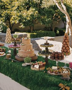 There are no rules that say you can only cut into one cake at your reception. Take a cue from these couples and deck out your wedding dessert table with candy, donuts, and more. Your guests (and your sweet tooth!) will thank you.