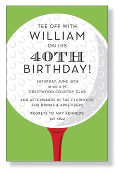 Man golf birthday invitation birthday invitations pinterest gavins golf party filmwisefo