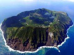 Easily convertible into a zombie-free zone. Aogashima off the coast of Japan.