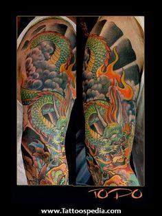 Výsledok vyhľadávania obrázkov pre dopyt japan tattoo arm dragon