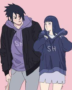 Hinata Hyuga, Sasuke Uchiha, Naruto Anime, Naruto Comic, Naruto And Hinata, Naruto Art, Otaku Anime, Boruto, Naruto Family