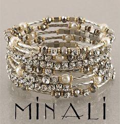 Coco - Silver,Pearl, Topaz & Gold Spiral Wrap Bracelet   ***gorgeous***