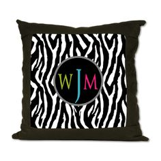 Stylish Monogram Suede Pillow