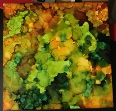 Alcohol ink on Claybord by Molly Jones