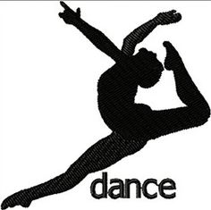 Dancer Silhouette embroidery design