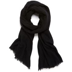 Helmut Lang Cashmere Silk Gauze Scarf ($74) ❤ liked on Polyvore
