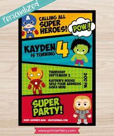 Superheroes cupcake toppers printable Avengers by PrinterFairy