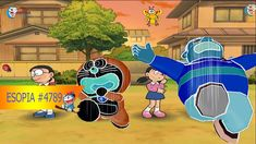 Doraemon Wii Game #4790 mini game Moon TV  DORAEMON AND THE INSECT WORLD...