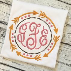 Fall shirt with monogram | Gentry's Closet | $24 | Click link to shop: http://gentryscloset.com/collections/girls/products/fall-shirt-with-monogram-tribal-arrows-thanksgiving-autumn-girls-shirt-infant-bodysuit-personalized-monogrammed-tshirt