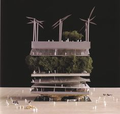 MVRDV, Dutch Pavilion (model), Expo 2000 Hanover.