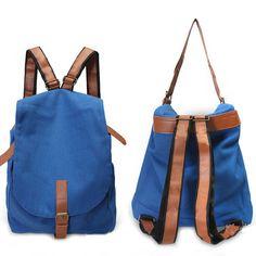 Sale 22% (18.23$) - Women Canvas Backpacks Student Casual Shoulder Bags Bookbag