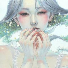 Ethereal Japanese Oil Paintings of Women Enraptured by Nature Japanese artist Miho Hirano composes stunning delicate oil paintings with an enchanting sensibility which is connected to nature. Hirams ethereal subjects are submerged with the blossoming beauty of nature in every stroke. Theyre connected to a range of beautiful flowers and dainty creatures.  Each subject seems to be floating underwater in another realm where melancholy reigns. The women painted posses fairy-like features found…