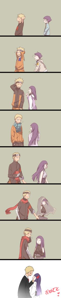 NaruHina through the years <3