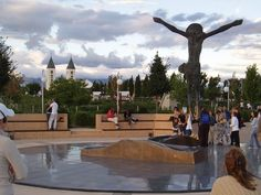 Medjugorje, Bosnia. This statue had fluid dripping from the knee when we were there. It was an awesome experience.
