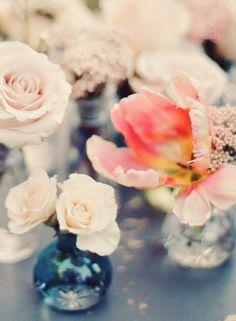 Flowers in Bud Vases