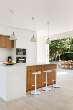 Braeside Joinery are your local Northern Beaches Joinery Experts. Working with builders and property owners, delivering quality joinery, on-time on budget. Open Plan Kitchen, New Kitchen, Central Island, Cupboard Wardrobe, Led Under Cabinet Lighting, Island Bench, Kitchen Cupboards, Satin Finish, Pendant Lights