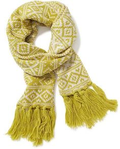 Jacquard Fringe Knit Scarf for Women from Old Navy