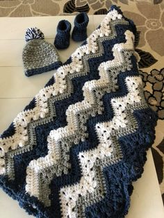 This Pin Was Discovered By Anita Wolfe. Crochet Ripple, Crochet Quilt, Baby Blanket Crochet, Crochet Baby, Knit Crochet, Chevron Baby Blankets, Crochet Blankets, Crochet Bedspread Pattern, Afghan Crochet Patterns