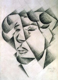 Juan Gris, Self-portrait. Born in Madrid died in Paris Gris was a Cubist. Unlike Picasso and Braque, whose Cubist works were monochromatic, he painted with bright colors. Georges Braque, Spanish Painters, Spanish Artists, Cubist Art, Abstract Art, Cubist Paintings, Synthetic Cubism, Wow Art, Henri Matisse