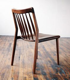 Jason Lewis Furniture Dining Chair - Jason Lewis Furniture is hand built, one piece at a time from his Chicago Illinois wood shop. Carefully selected hardwoods and time tested joinery techniques are used to create modern furniture of heirloom quality. Lewis Furniture, Wooden Furniture, Home Furniture, Furniture Design, Wooden Chairs, Custom Furniture, Antique Furniture, Muebles Art Deco, Traditional Chairs