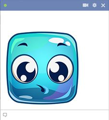 This aqua-colored smiley is vibrant and bold. Share it on your social profiles to enhance your next post.