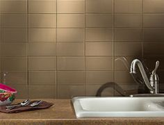 Aspect Backsplash 3x6 Gl Tile In Sienna Bark