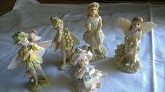 Deko-Objekte - 5 Elfen Figuren Romantische Deko - ein Designerstück von Grossmutters_Lieblinge bei DaWanda