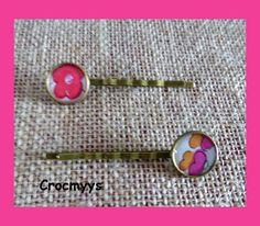 Barrettes liberty betsy grenadine : Accessoires coiffure par crocmyys