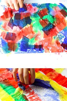 Bleeding Crepe Paper Art for Kids Bleeding Crepe Paper Art for Kids - A fun and easy process-led concept that kids will love! Perfect for preschoolers and kindergarten; allowing kids to create unique experimental works of art from a super fun process. Process Art Preschool, Preschool Art Projects, Preschool Crafts, Projects For Kids, Kids Crafts, Norway Crafts For Kids, Art Activities For Kindergarten, Art Activities For Preschoolers, Art For Toddlers