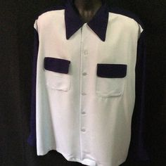 Vintage Men's 1940's 1950's Gab Shirt by Hollywood by sneakytiki, $129.00