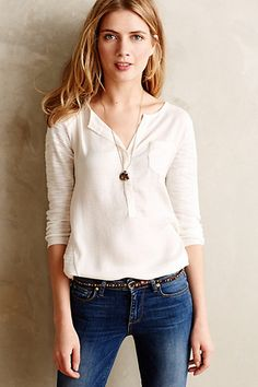 Verso Lace Pullover #anthropologie (Ivory)