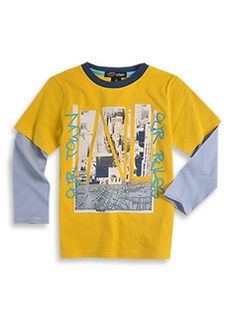 Pumpkin Patch - Mock Long Sleve Tee with Print