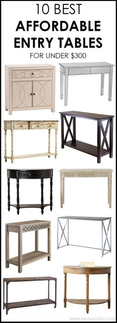 Love a classic style with a modern twist, then these are the perfect and most affordable entry tables for you! 10 most affordable entry tables on A Blissful Nest.