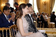 The Fairytale Gina Alice and Lang Lang Wedding - Salon Prive Mag Prince Michael Of Kent, Bianca Jagger, Wedding Of The Year, White Gowns, Wedding Dinner, French Films, John Legend, Bride Look, Young Couples