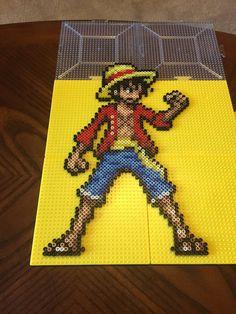 One Piece Luffy Perler Sprite by jnjfranklin.deviantart.com on @DeviantArt