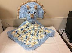 Triceratops Lovey Crochet Pattern from Lisa Kingsley via Ravelry