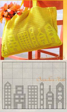 Ideas Crochet Basket Diagram Market Bag For 2019 Filet Crochet, Crochet Shell Stitch, Crochet Stitches, Handbag Patterns, Bag Patterns To Sew, Sewing Patterns, Crochet Patterns, Crochet Handbags, Crochet Purses