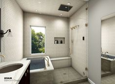 The bathroom is a place to keep a hygienic. It has a shower, toilet and sink. In some cases, . Kohler Bathroom, White Bathroom, Small Bathroom, Master Bathroom, Bathroom Fixtures, Shower Storage, Vanity Design, Master Bath Remodel, Classic Bathroom
