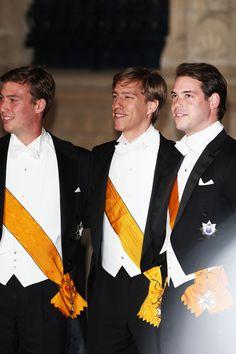 Three of the five children of Luxembourg's Grand Duke, Henri, and his wife, Grand Duchess Maria Teresa