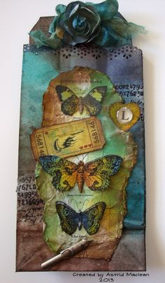 Astrid's Artistic Efforts: Love Wish and Dream tag and holder
