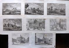 Rome - Falda, Ferrerio & Vasi C1650-1820 Good Lot of 8 Archi