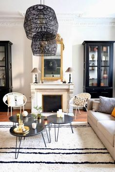 The Parisian Apartment Decor Guide for Americans Living Room Glass Cabinet, Living Room Cabinets, Parisian Decor, Parisian Apartment, Apartment Living, Parisian Style, Design Apartment, Apartment Interior, Living Room Designs