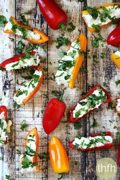 Stuffed Mini Peppers with Vegan Garlic Cashew Spread...a healthy, clean eating Vitamix recipe that's raw, vegan, gluten-free, dairy-free, soy-free and paleo-friendly | The Healthy Family and Home