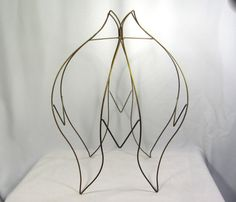 Wire Lampshade Frames Magnificent Lamp Shade Frame Large For Pendant Custom Lampshade Hand Made In Nyc Decorating Design
