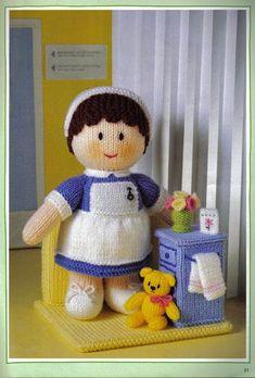 Mascots 21 Knitted Doll Patterns, Doll Patterns Free, Knitted Dolls, Craft Patterns, Crochet Dolls, Free Pattern, Knitting Patterns, Jean Greenhowe, Alan Dart