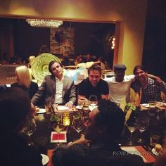 Robsten Dreams: New Picture of Rob at dinner with friends - June 25, 2014